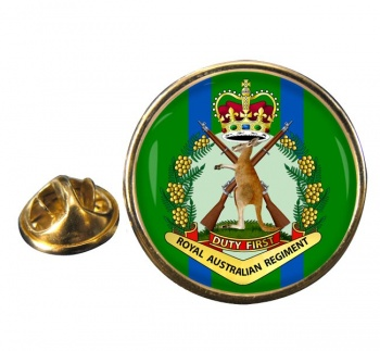 Royal Australian Regiment Round Pin Badge