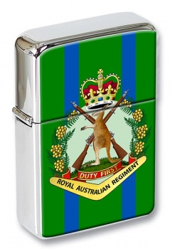 Royal Australian Regiment Chrome Flip Top Lighter