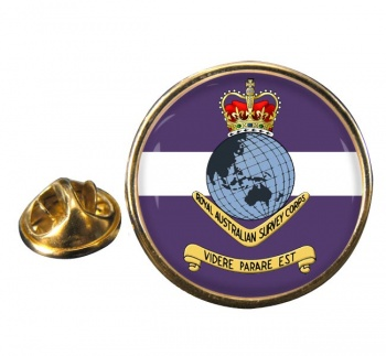 Royal Australian Survey Corps Round Pin Badge