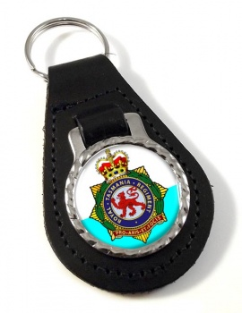 Royal Tasmania Regiment (Australian Army) Leather Key Fob