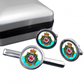 Royal Tasmania Regiment (Australian Army) Round Cufflink and Tie Clip Set