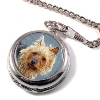 Australian Terrier Pocket Watch