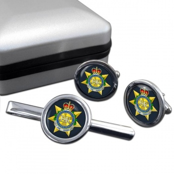 Royal Australian Corps of Transport Round Cufflink and Tie Clip Set