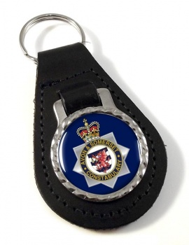 Avon and Somerset Constabulary Leather Key Fob