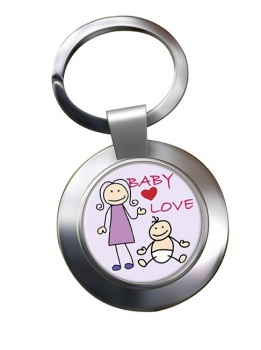 Baby Love Chrome Key Ring