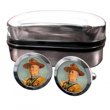 Robert Baden-Powell Round Cufflinks