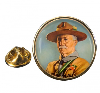 Robert Baden-Powell Round Pin Badge