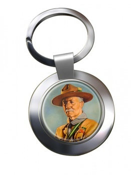 Robert Baden-Powell Chrome Key Ring