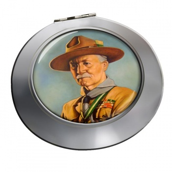 Robert Baden-Powell Chrome Mirror