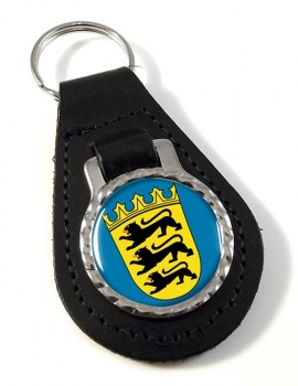 Baden-Wurttemberg (Germany) Leather Key Fob