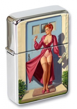 Bad Start Pin-up Girl Flip Top Lighter