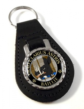 Baillie Scottish Clan Leather Key Fob