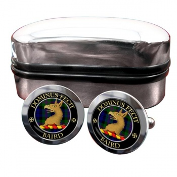 Baird Scottish Clan Round Cufflinks