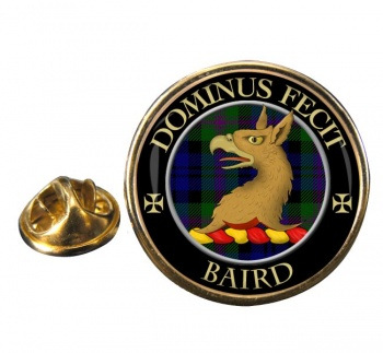 Baird Scottish Clan Round Pin Badge