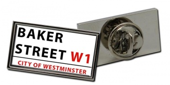 Baker Street Rectangle Pin Badge