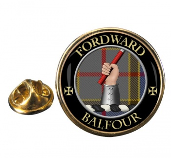 Balfour Scottish Clan Round Pin Badge
