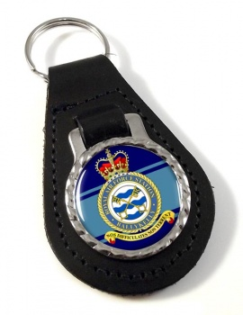 RAF Station Ballykelly Leather Key Fob