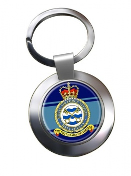 RAF Station Ballykelly Chrome Key Ring