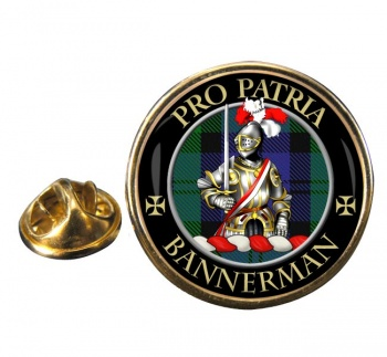 Bannerman Scottish Clan Round Pin Badge