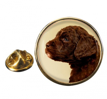 Barbet (French Water Dog) Round Pin Badge