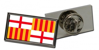 Barcelona (Spain) Flag Pin Badge