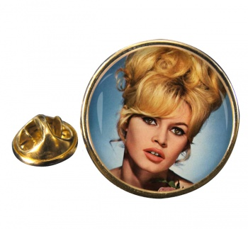 Brigitt Bardot Round Pin Badge