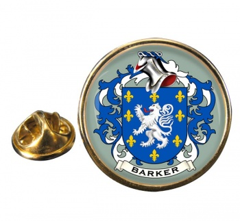 Barker Coat of Arms Round Pin Badge