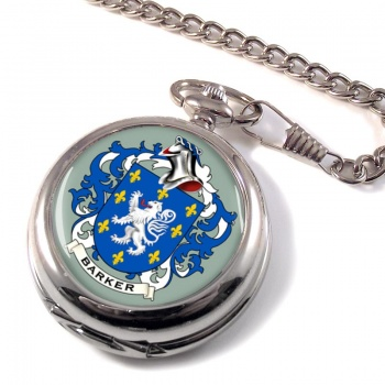 Barker Coat of Arms Pocket Watch