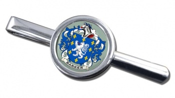 Barker Coat of Arms Round Tie Clip
