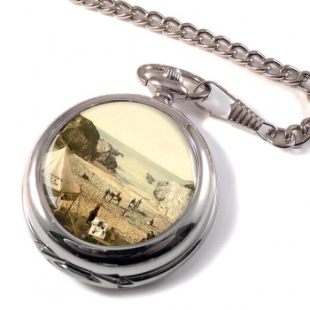 Barricane Shell Beach Devon  Pocket Watch