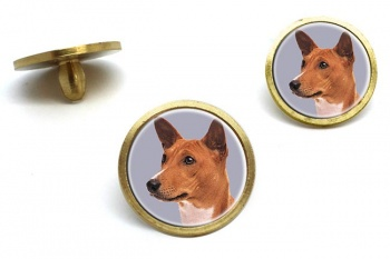 Basenji Dog  Golf Ball Marker Set