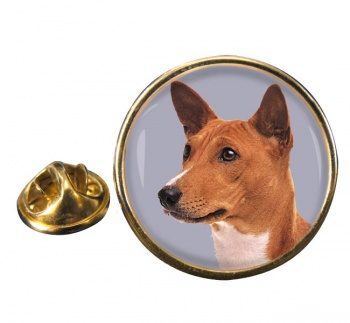 Basenji Dog Round Pin Badge