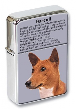 Basenji Dog Flip Top Lighter