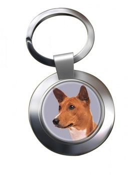 Basenji Dog Metal Key Ring