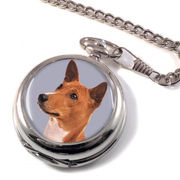 Basenji Dog Pocket Watch