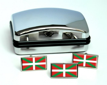 Basque Country Euskadi (Spain) Flag Cufflink and Tie Pin Set