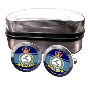RAF Station Bassingbourn Round Cufflinks