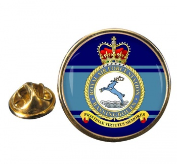 RAF Station Bassingbourn Round Pin Badge
