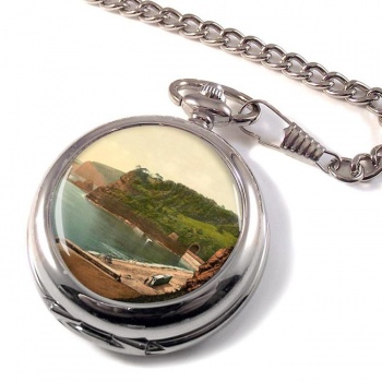Bathing Cove Dawlish Devon Pocket Watch