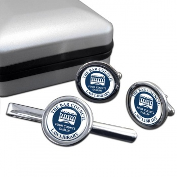 Bar Council Law Library Round Cufflink and Tie Clip Set