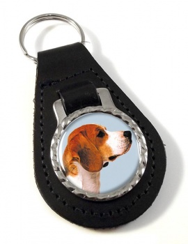 Beagle Leather Key Fob