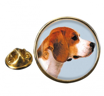 Beagle Round Pin Badge