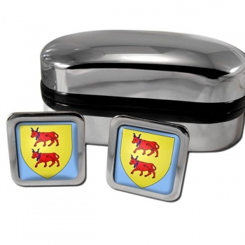 Bearn France Square Cufflinks