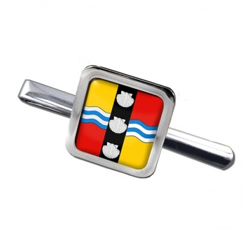 Bedfordshire (England) Square Tie Clip