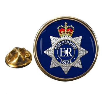 Bedfordshire Police Round Pin Badge
