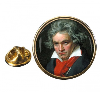 Ludwig van Beethoven Round Pin Badge