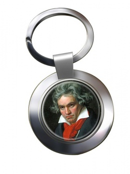 Ludwig van Beethoven Chrome Key Ring
