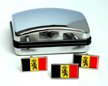 Staatsvlag van Belgie (Belgium) Flag Cufflink and Tie Pin Set