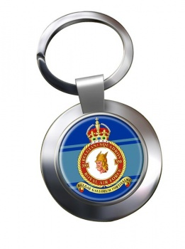 350th Belgium Air Component Chrome Key Ring