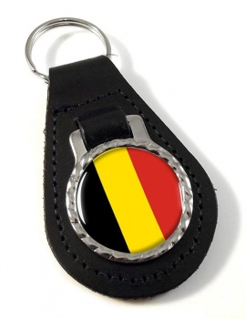 Belgique Belgie (Belgium) Leather Key Fob